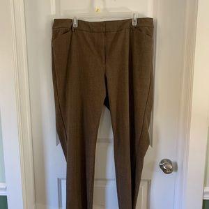 Talbots 16w dress pants brown stretch waist